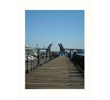 Waterside Dock, Norfolk, VA Art Print