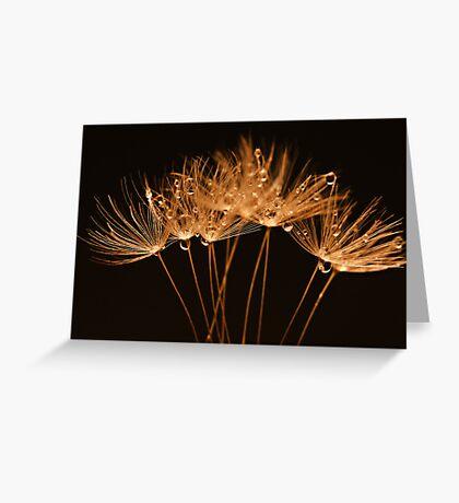 Golden Dandelions Greeting Card