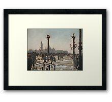Towards the light, Venise. Framed Print