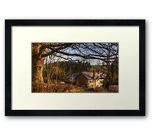 Farmhouse in the valley Framed Print