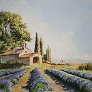 Fields of evening lavander. by David McEwen