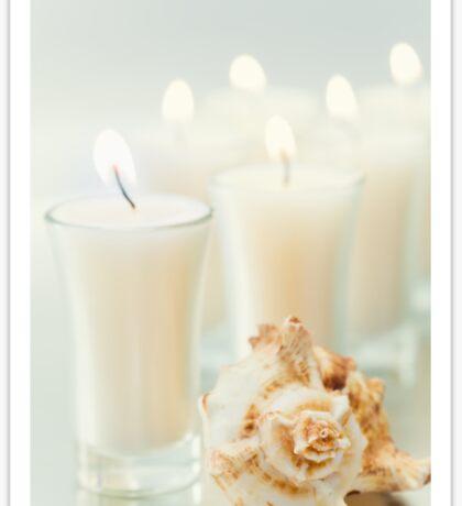 Candles & Seashell Sticker
