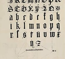 Measurement With Compass Line Leveling Albrecht Dürer or Durer 1525 0141 Alphabet Letters Calligraphy Font by wetdryvac