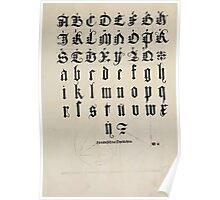 Measurement With Compass Line Leveling Albrecht Dürer or Durer 1525 0141 Alphabet Letters Calligraphy Font Poster