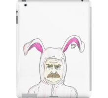A Ron Swanson Christmas Story - Hand-drawn iPad Case/Skin