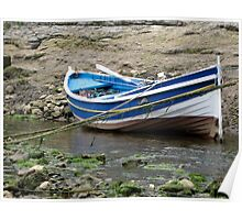 Double Ender Fishing Boat , Staithes Poster