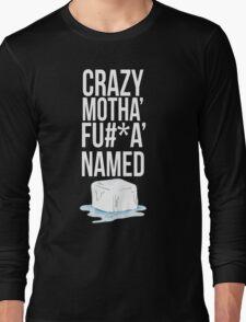 Ice Cube White Censored Long Sleeve T-Shirt