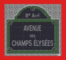 Champs Elysees Street Sign Deco Swing Kids Clothes
