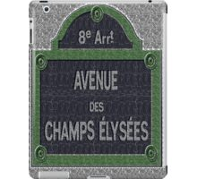 Champs Elysees Street Sign Deco Swing iPad Case/Skin