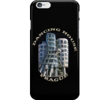 *•.¸♥♥¸.•*The Dancing House Prague TEE SHIRT WITH TEXT*•.¸♥♥¸.•* iPhone Case/Skin