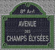 Champs Elysees Street Sign Deco Swing by CecelyBloom