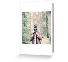 The Wild Photographer Greeting Card