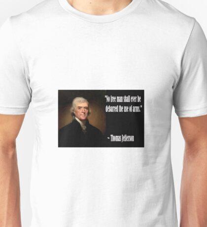 Jefferson on Guns Unisex T-Shirt