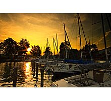 Golden Sunset on Attersee Photographic Print