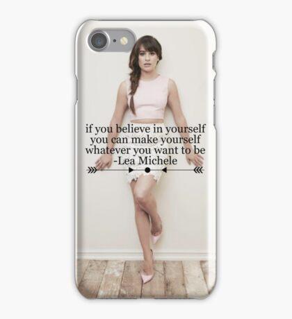 Lea Michele Quote Phone Case iPhone Case/Skin