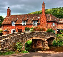 Pack horse Bridge of Allerford by Rob Hawkins