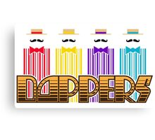 Dappers with lettering Canvas Print