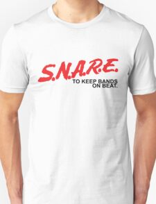 SNARE To Keep Bands On Beat - Black Type T-Shirt