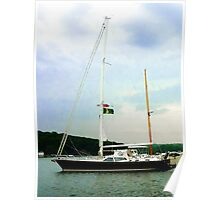 Sailboat at Anchor Poster