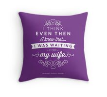 The Office Jim Halpert Quote - Waiting for My Wife Throw Pillow