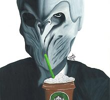 Silence in the Starbucks - Hand-drawn by Hannahmorris
