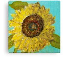 Sunflower Selfie Canvas Print