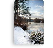 Winter on the Thames, Desborough Island Canvas Print