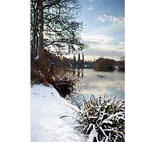 Winter on the Thames, Desborough Island Photographic Print