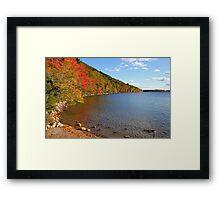 'Fall Color at Jordan Pond' Framed Print