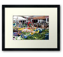 Farmer's Stand Framed Print