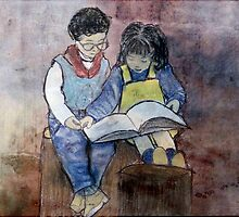 The Bookworms by Marie Luise  Strohmenger