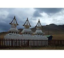 Triple Shrine Buddha Photographic Print