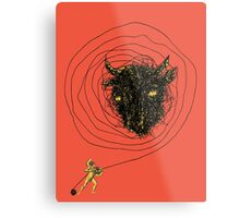 Theseus, the Minotaur, and the Thread Maze Metal Print