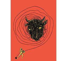 Theseus, the Minotaur, and the Thread Maze Photographic Print