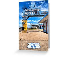 Blue Swallow Motel. Tucumcari, New Mexico Greeting Card