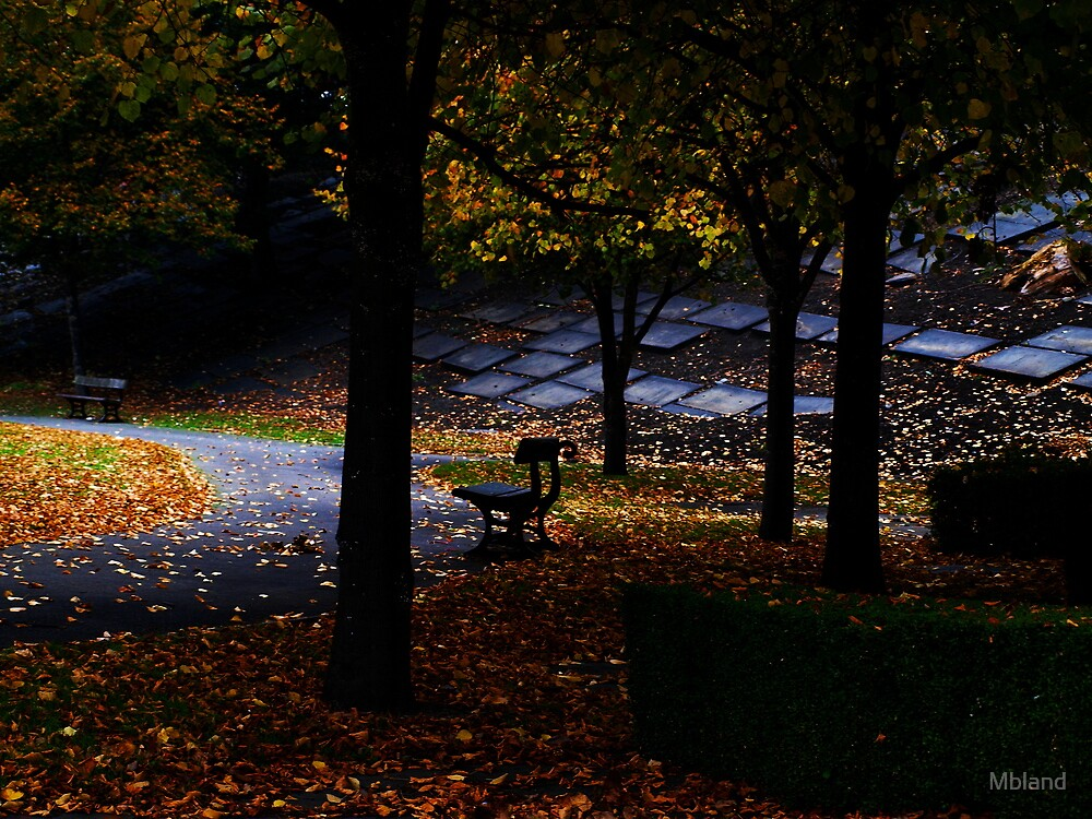 Cemetery bench. by Mbland
