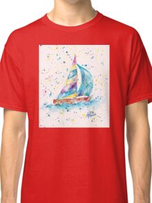 Sailboat by Jan Marvin Classic T-Shirt
