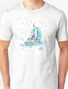 Sailboat by Jan Marvin Unisex T-Shirt