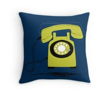Retro Phone Throw Pillow