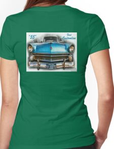 55 Ford Customline, Grill'n - Creative Clothing Womens Fitted T-Shirt