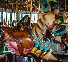 PTC Carousel 54 Fall River, MA #3 by Rebecca Bryson