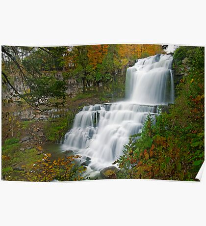 Overview in Autumn - Chittenango Falls Poster