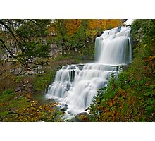 Overview in Autumn - Chittenango Falls Photographic Print