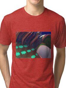 Crowding onto the Subway Train Tri-blend T-Shirt