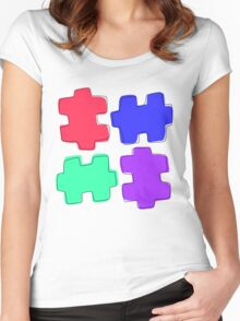 Puzzle Pieces Women's Fitted Scoop T-Shirt