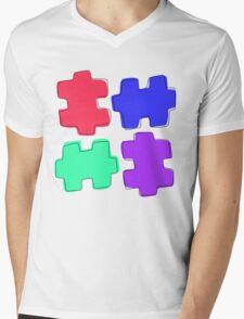 Puzzle Pieces Mens V-Neck T-Shirt