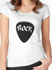 Rock Guitar Pick Women's Fitted Scoop T-Shirt