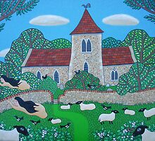 Angels, Sheep and a Sussex Church by Amanda White