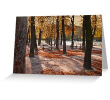 Autumn in Paris Greeting Card