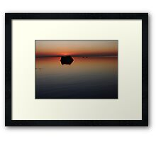 Loneliness is a Place Framed Print